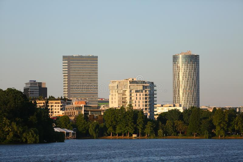 Scape города Бухареста стоковое фото rf