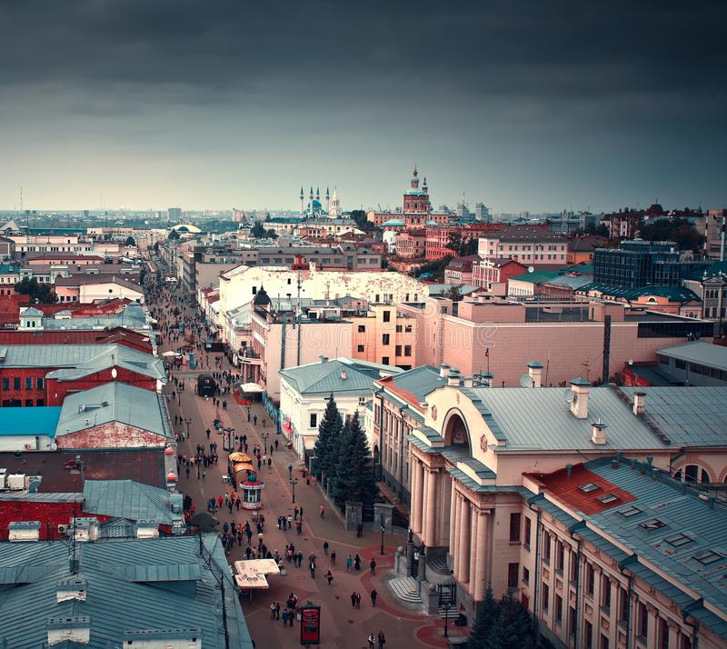 Scape города Казани, республика Татарстана, Россия стоковое фото