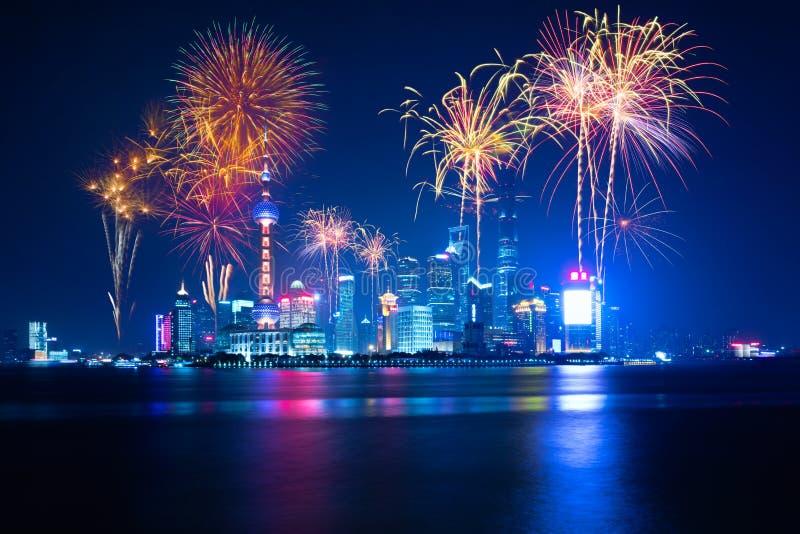 Scape города Шанхая стоковое фото rf