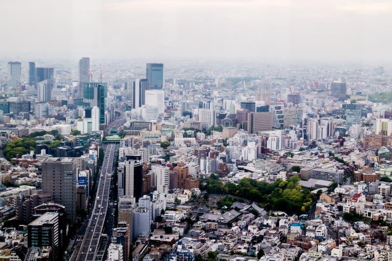 Scape comercial da cidade das construções da vista aérea imagens de stock royalty free