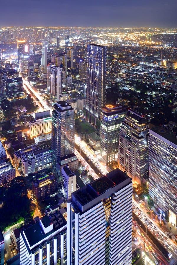 Scape da cidade de Banguecoque Tailândia imagem de stock