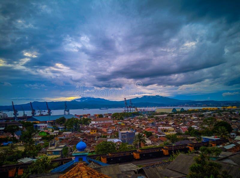 Scape da cidade de Panjang foto de stock