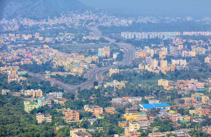 Scape da cidade de Visakhapatnam na Índia fotos de stock royalty free