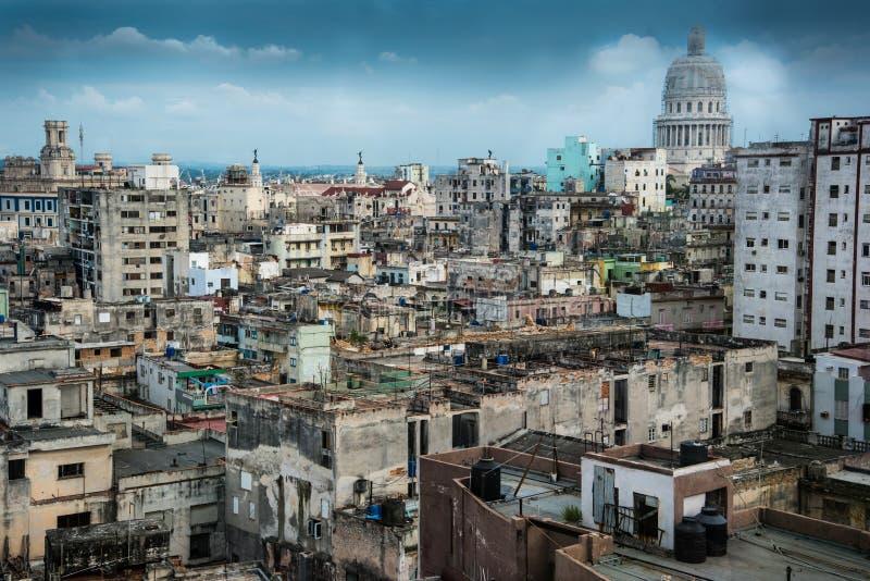 Scape da cidade do capitol de Havana de Cuba fotos de stock royalty free