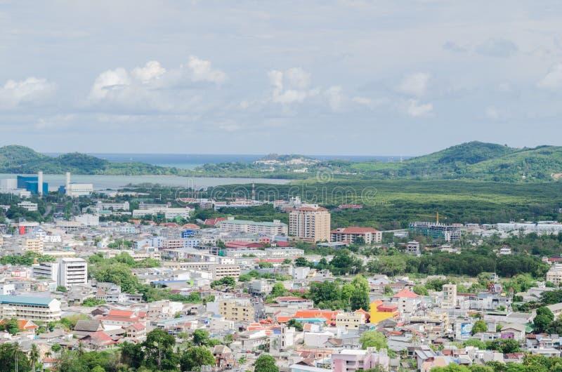 Scape de la ciudad de Phuket, Tailandia fotos de archivo libres de regalías