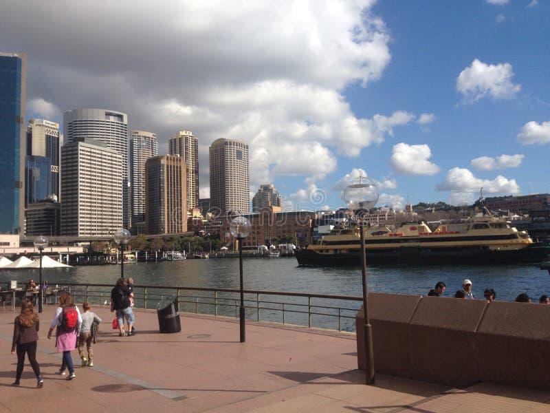 Scape de la ciudad de Sydney Harbour foto de archivo