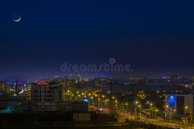Scape de la ciudad en la noche fotos de archivo libres de regalías