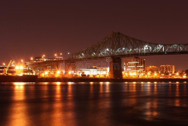 Scape de la ciudad en la noche de Toronto, Canadá imagen de archivo libre de regalías