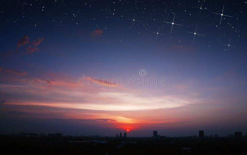 Scape de Star City do por do sol foto de stock