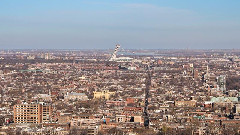 Scape de ville de Montréal photographie stock libre de droits