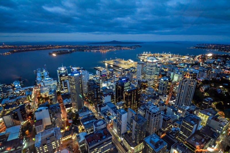 Scape de ville du Nouvelle-Zélande d'horizon d'Auckland image stock