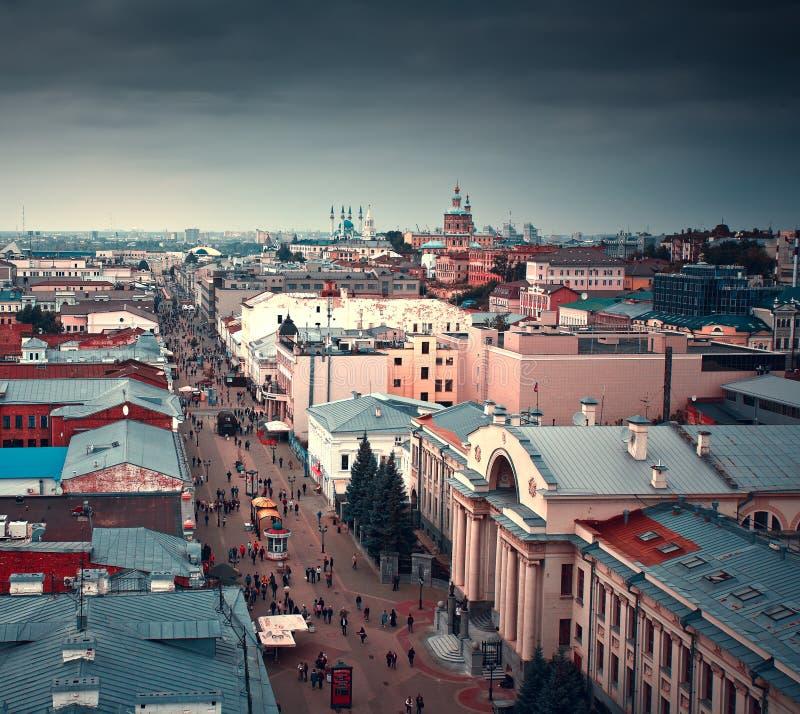 Scape de ville de Kazan, République du Tatarstan, Russie photo stock