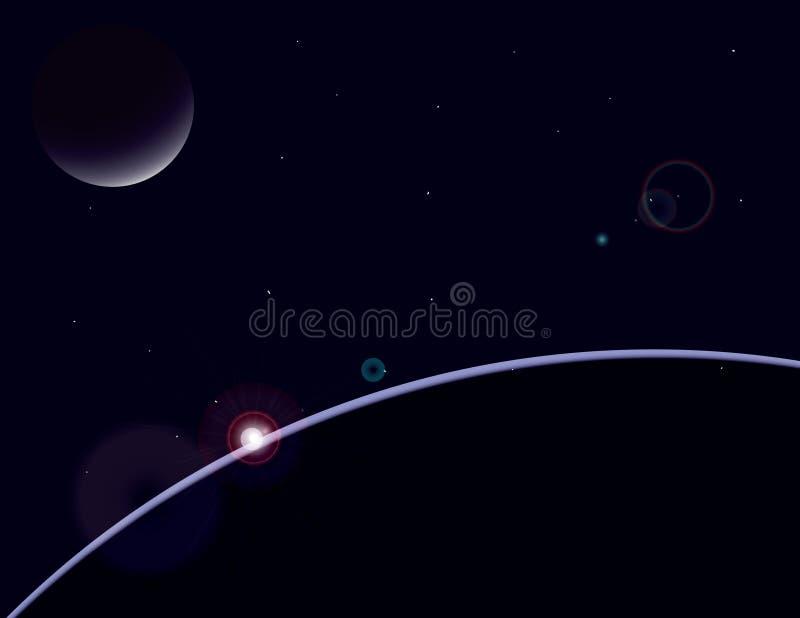 Scape del planeta foto de archivo