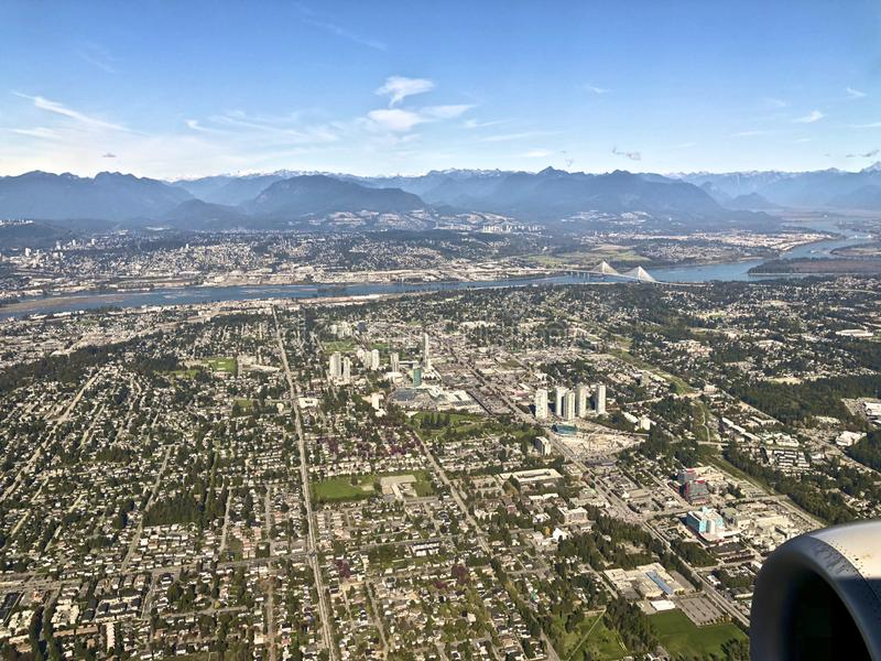 Scape della città di Vancouver fotografie stock