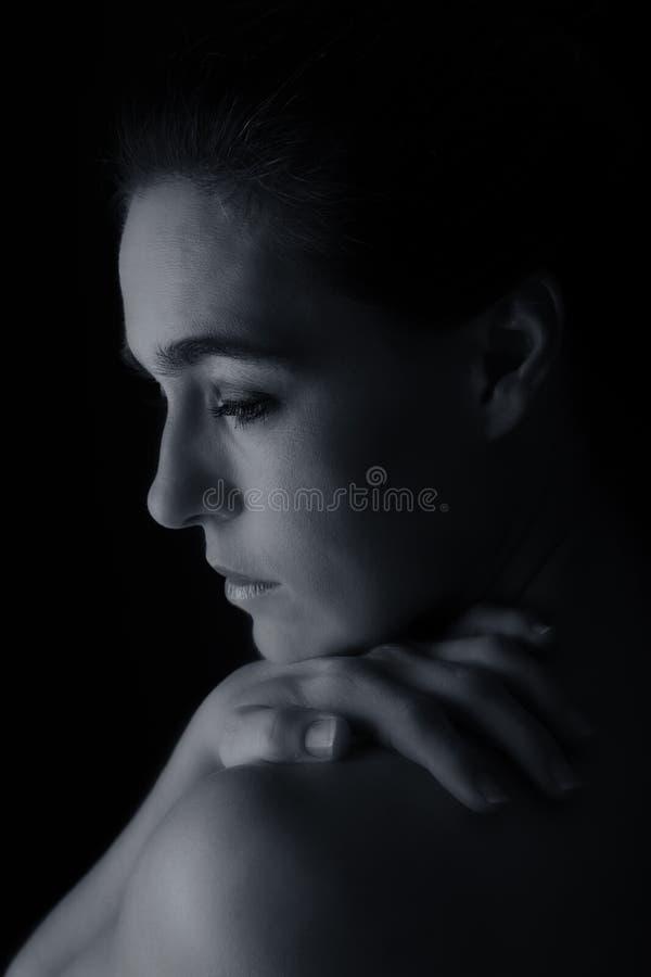 Scape do corpo da conversão artística da emoção do pescoço e da mão da mulher fotos de stock royalty free