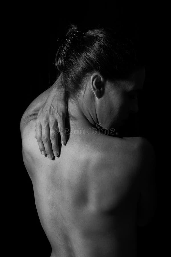 Scape do corpo da parte traseira da mulher no conversio artístico da emoção da luminosidade reduzida imagens de stock