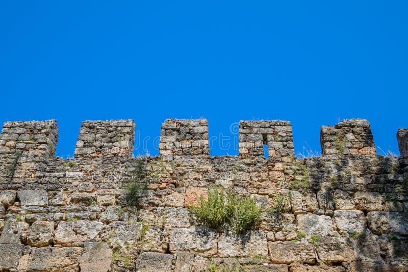 Scappatoie della parete del calcare La parete della fortezza della fortezza antica fotografie stock