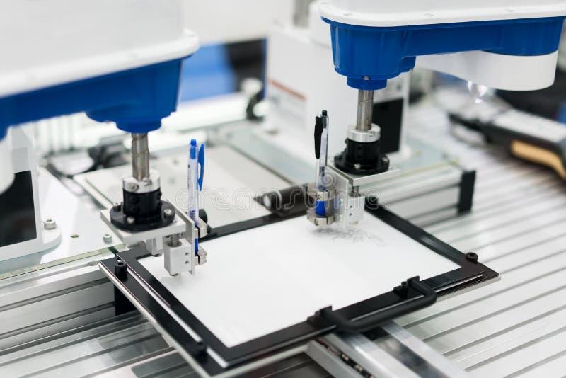 SCARA robota system Przemysłowy i fabryczny z maszynowym technolo obrazy royalty free