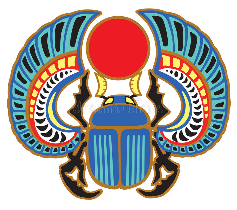 Scarabée égyptien de scarabée illustration libre de droits