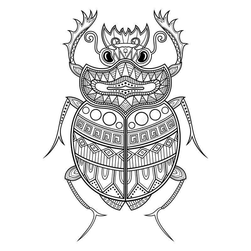 Scarabée de scarabée de vecteur illustration de vecteur
