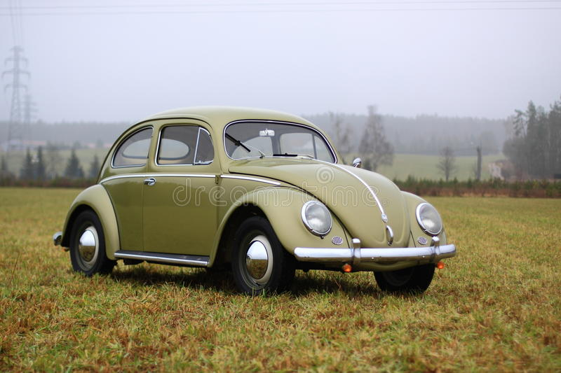 Scarabée 1957 de VW photos stock