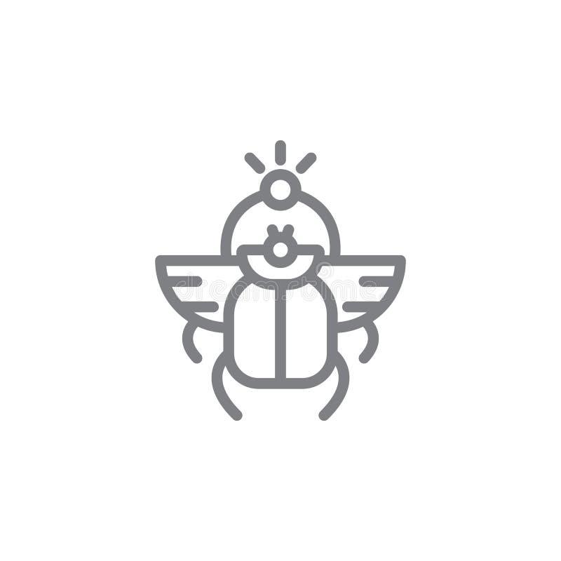 scarab εικονίδιο r r r απεικόνιση αποθεμάτων