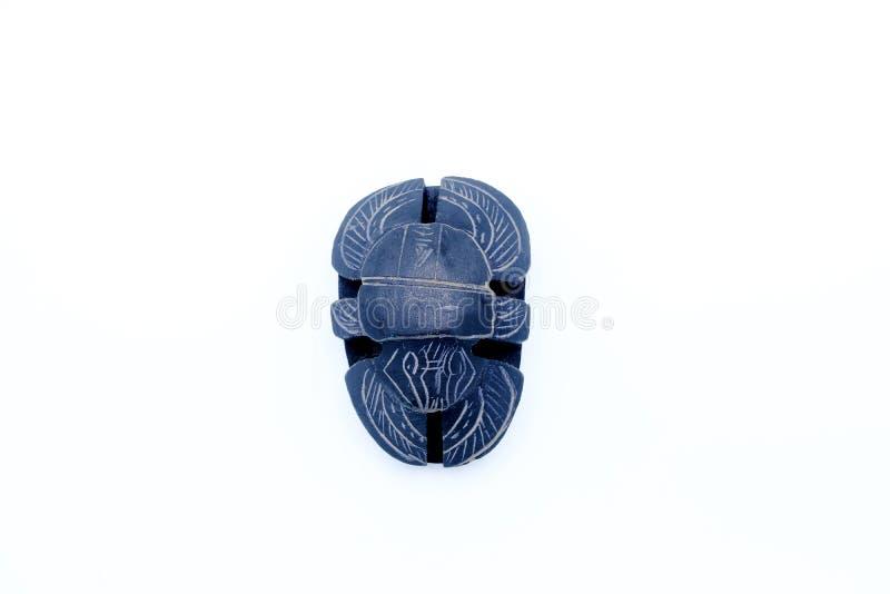 Scarabaeus découpé dans la pierre d'albâtre images stock