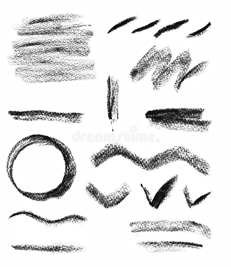 Scarabocchio del disegno di carboncino illustrazione vettoriale