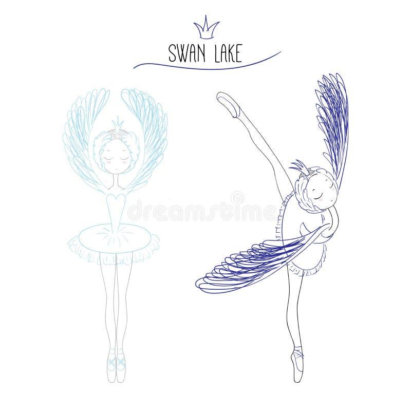 Scarabocchio del lago swan royalty illustrazione gratis
