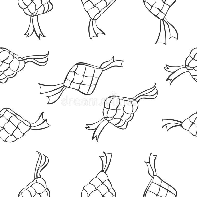 Scarabocchio del tema di Eid Mubarak illustrazione di stock