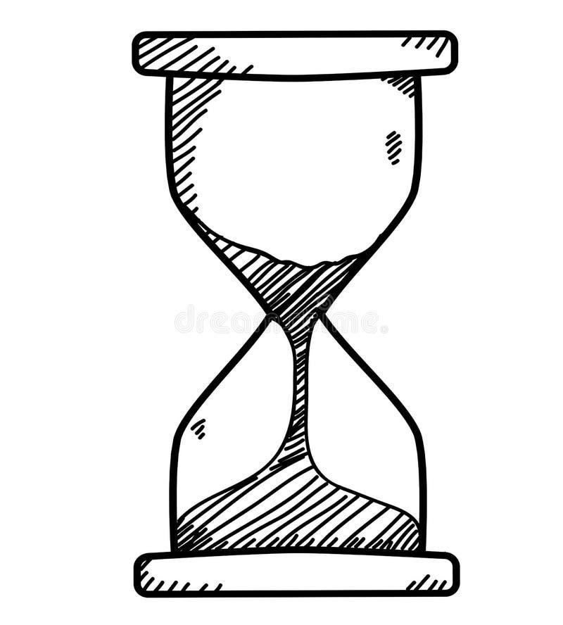 Scarabocchio dell'orologio della sabbia royalty illustrazione gratis