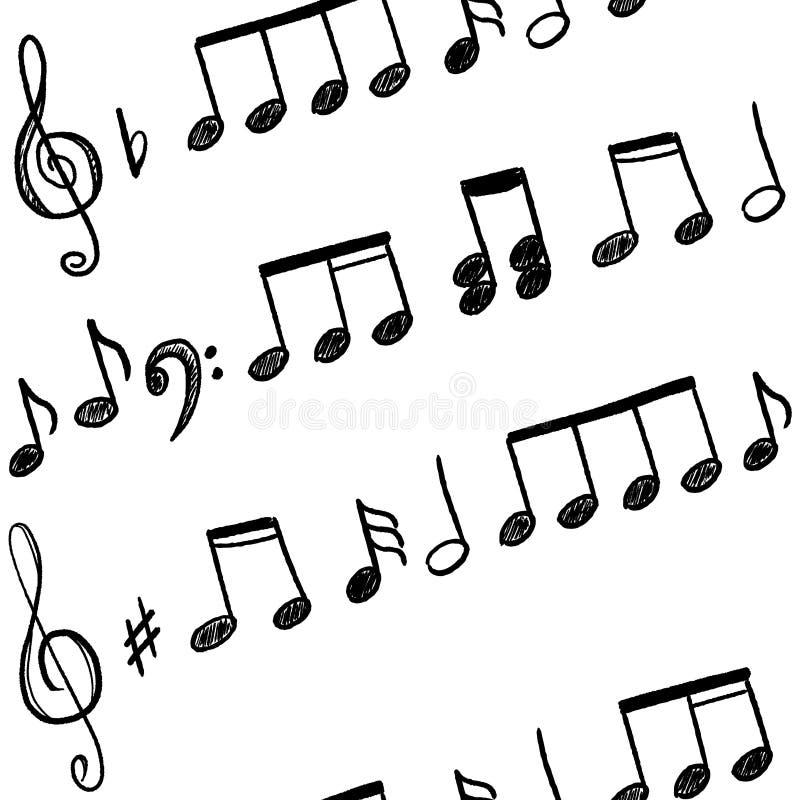 Scarabocchio delle note di musica illustrazione di stock
