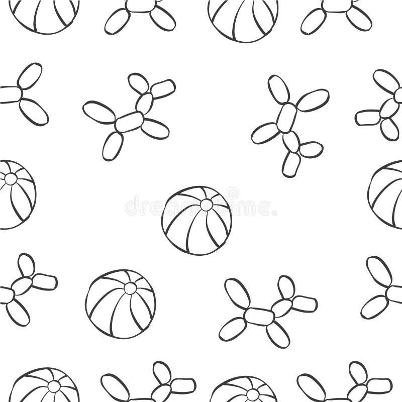 Scarabocchio di tiraggio della mano del circo della palla royalty illustrazione gratis