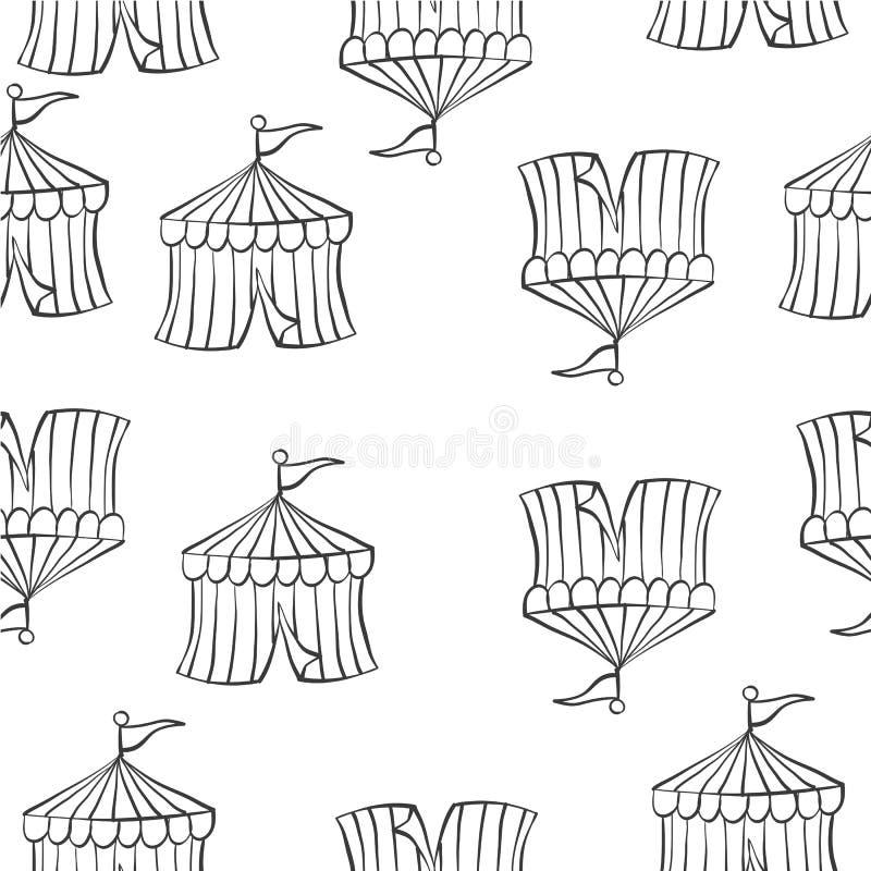 Scarabocchio di tiraggio della mano del circo della tenda royalty illustrazione gratis