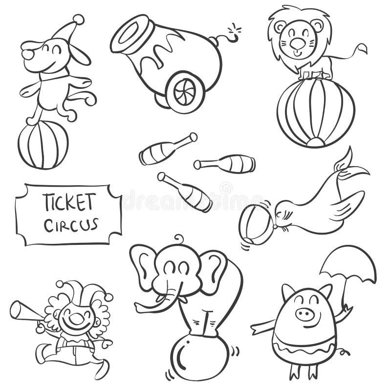 Scarabocchio di vario circo dell'elemento royalty illustrazione gratis