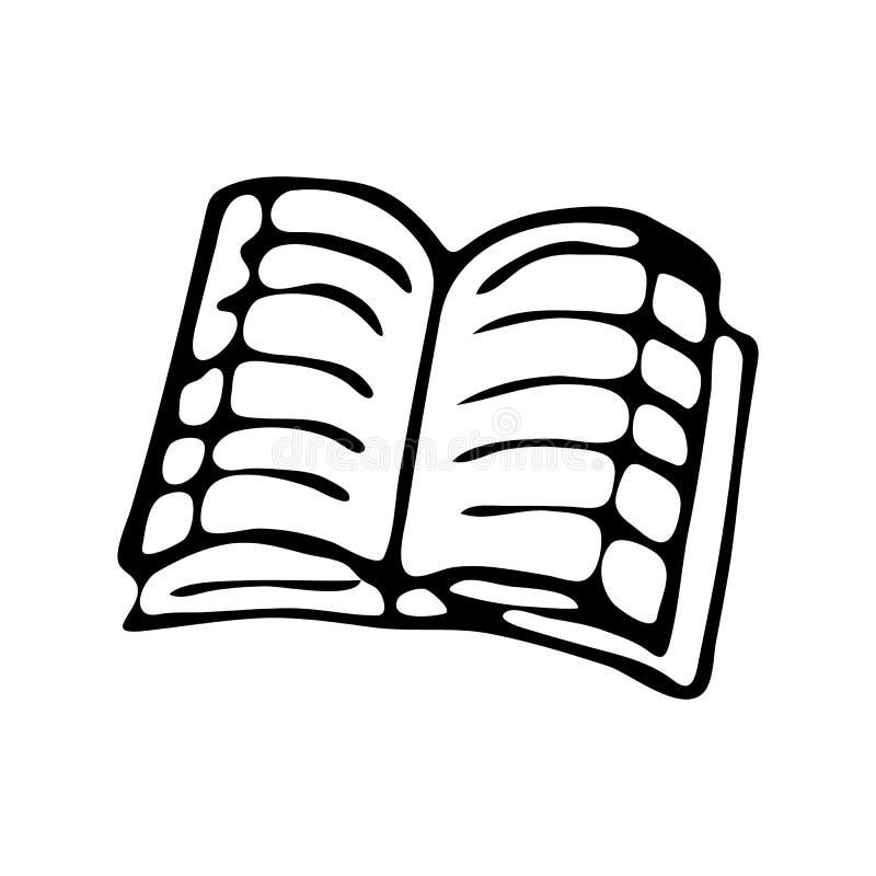 Scarabocchio disegnato a mano del quaderno Schizzo di nuovo alla scuola, icona de illustrazione di stock