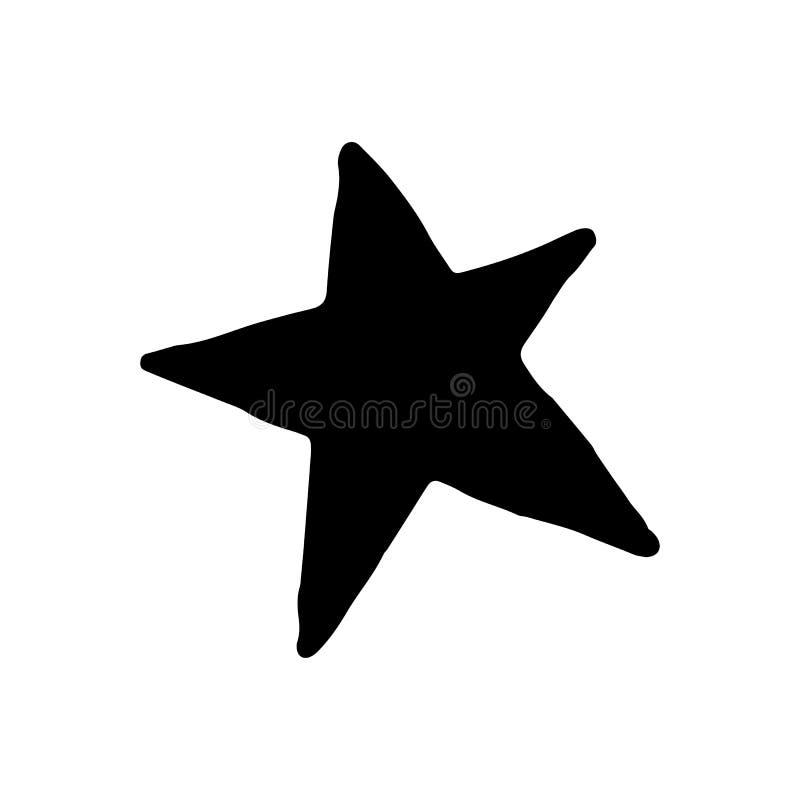 Scarabocchio disegnato a mano della stella Icona di stile di schizzo Elemento della decorazione I illustrazione vettoriale