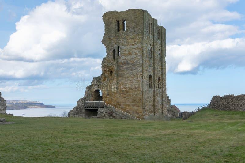 Scarborough Castle, το μεσαιωνικό Castle σε Scarborough, Αγγλία στοκ φωτογραφία με δικαίωμα ελεύθερης χρήσης