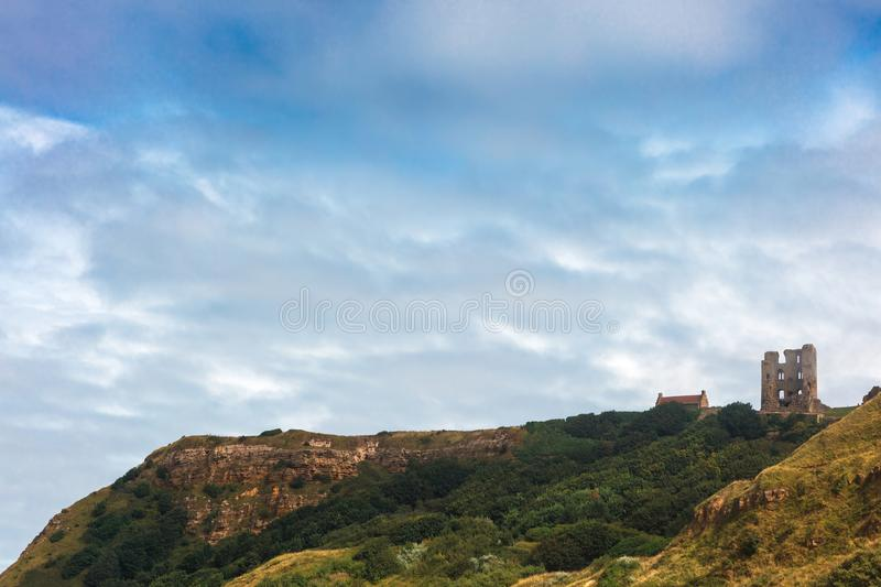 Scarborough Castle, a former medieval Royal fortress. stock photo