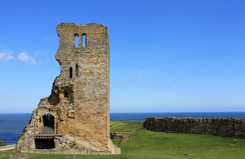 Scarborough Castle ruins royalty free stock image
