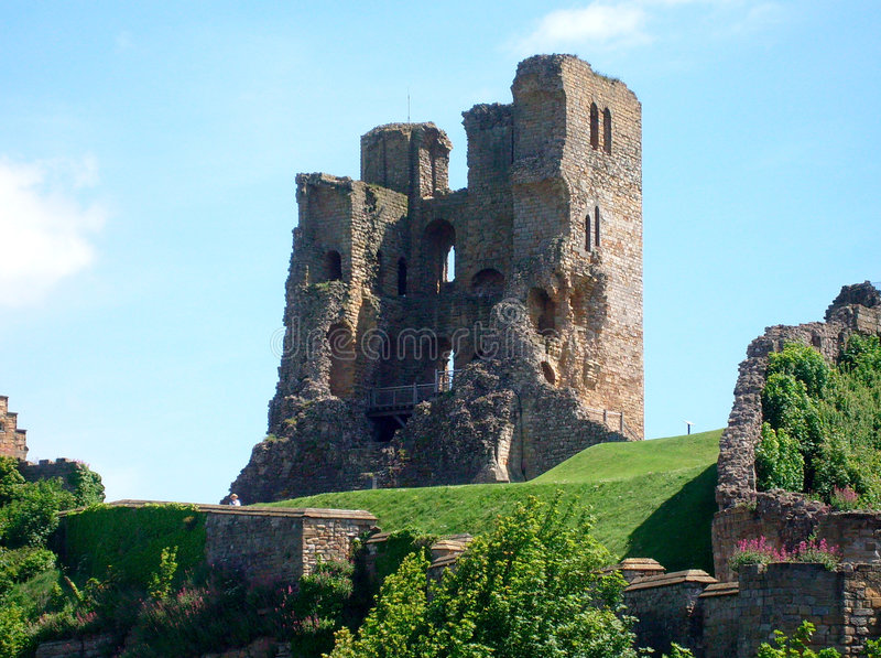 Scarborough Castle view royalty free stock photos