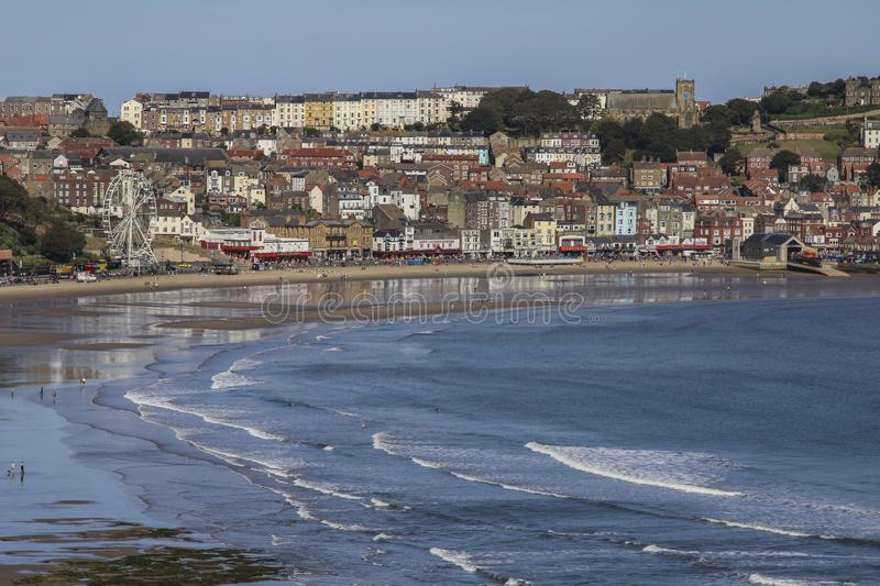 Scarborough on the North Yorkshire coast - United Kingdom. Scarborough. United Kingdom. 09.19.19. The seaside resort of Scarborough on the North Yorkshire coast royalty free stock image
