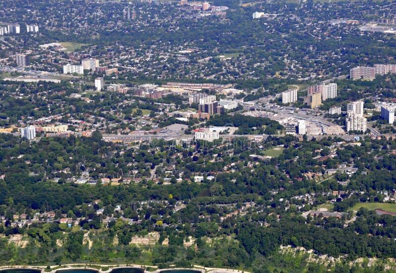 Scarborough Ontario, aereo fotografia stock