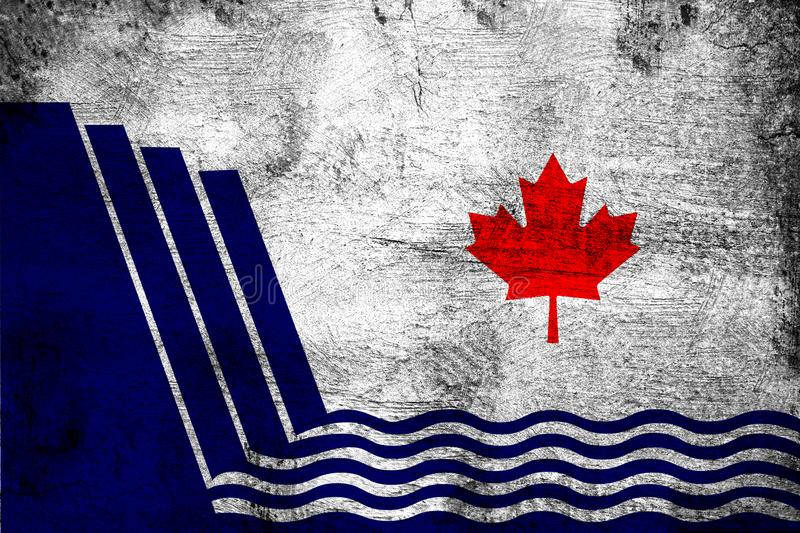 Scarborough Ontario. Grunge and dirty flag illustration. Perfect for background or texture purposes stock illustration