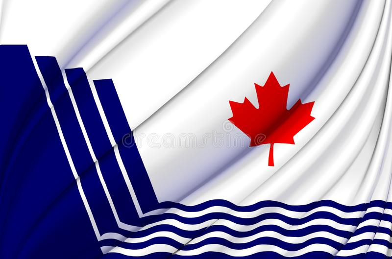 Scarborough Ontario waving flag illustration. States, cities and Regions of Canada. Perfect for background and texture usage stock illustration