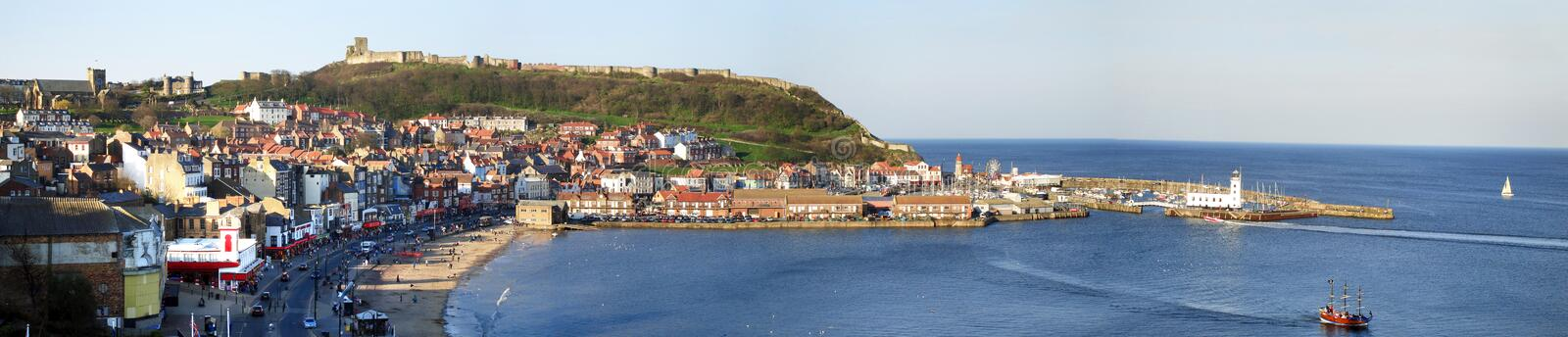 Scarborough-Panorama lizenzfreies stockfoto