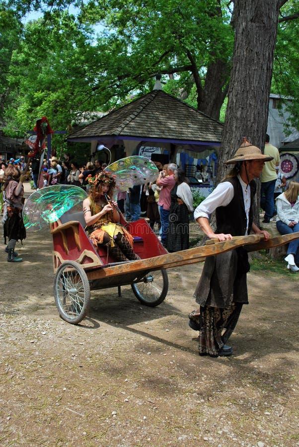 Scarborough Rennaissance Faire: Fairy no riquexó fotos de stock royalty free