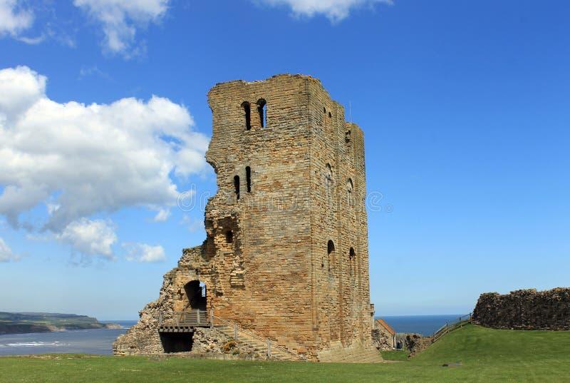 Scarborough-Schloss lizenzfreie stockfotos