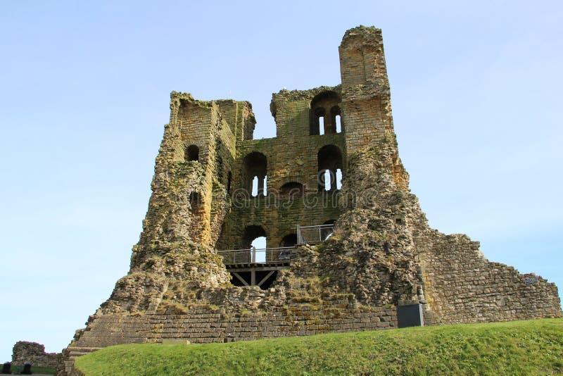Scarborough-Schlossruine Yorkshire England Großbritannien lizenzfreie stockfotografie