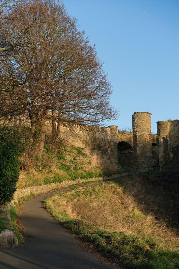Scarborough slott fotografering för bildbyråer